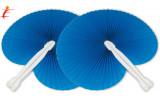 Ventaglio pieghevole azzurro