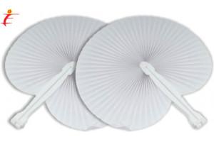 Ventaglio pieghevole bianco