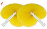 Ventaglio pieghevole giallo