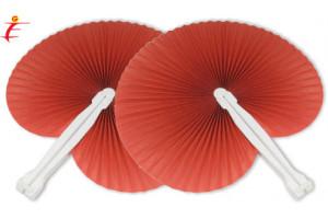 Ventaglio pieghevole rosso