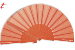 Ventaglio matrimonio Arancione colora le tue nozze