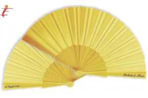 Ventaglio per matrimonio giallo