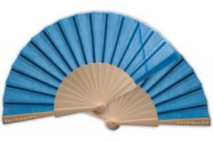 Ventagli matrimonio in legno azzurri colora le tue nozze