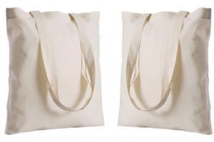 Wedding Bag in cotone colore ecru 135 gr